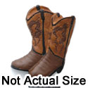 5392 - Cowboy Boots Brown Matte Mini - Resin Decoration