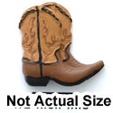 5415 - Cowboy Boots Tan Matte Mini - Resin Decoration