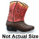 5459 - Boots Red & Tan Small Matte - Resin Decoration