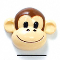 5613 tlf - Medium Monkey Face - Flat Backed Resin Decoration