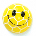 5618 tlf - Smiley Face Soccer Ball - Flat Backed Resin Decoration