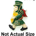 9204 ctlf - Large Irish Bagpiper - Resin Decoration