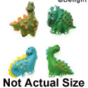 9417-12 ctlf - 4 Assorted Mini Dinosaurs - Resin Decoration (12 per package)