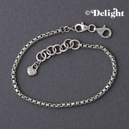Sterling Silver Large Hole Bead Bracelet