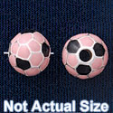 B1436 tlf - 10mm Soccer ball - Silver Plated Bead