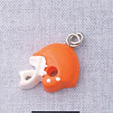 7060 - Orange Football Helmet - Resin Charm