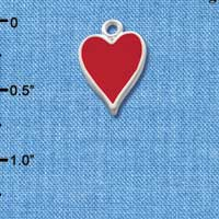 C1250 - Card Suit - Heart - Silver Charm