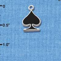 C1251 - Card Suit - Spade - Silver Charm