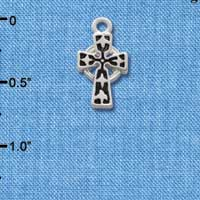 C1306 - Antiqued Celtic Cross - Silver Charm