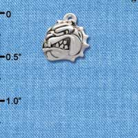 C2206* - Mascot - Bulldog - Small Silver Charm (Left or Right)
