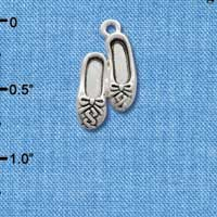 C2515 - Ballet Slippers - Silver - Silver Charm