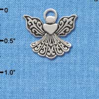 C2520 - Silver Angel with Heart - Silver Charm