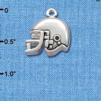 C2522* - Football Helmet - Small - Silver Charm (Left or Right)