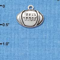 C2526 - Football - Silver - Large - Silver Charm