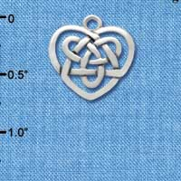 C2963 - Silver Celtic Knot Heart - Silver Charm