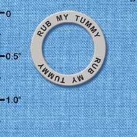 C3237 - Rub my Tummy - Affirmation Message Ring