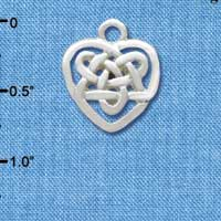 C3376 - Small Silver Celtic Heart Knot - Silver Charm