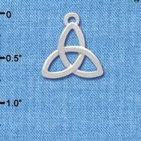 C3671 tlf - Large Silver Trinity Knot - Silver Charm