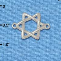 C5887+ tlf - Woven Star of David - Silver Plated Connector
