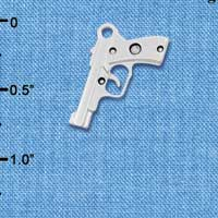 C6029+ tlf - 9mm Handgun - Silver Plated Charm