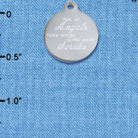 C6532 tlf - Engraved Some Angels Wear Scrubs - Stainless Steel Charm