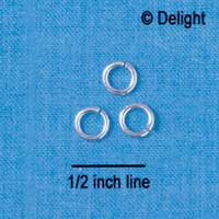G1039 tlf - 5mm Jump Rings - 18 Gauge (1 mm) (144 per package)