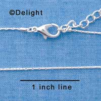 F1306 tlf - Silver Super Mini Snake Chain Necklace (16