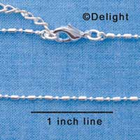 F1310 tlf - Silver Small Bead & Ball Chain Necklace (16