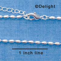 F1316 tlf - Silver Medium Bead Necklace (16