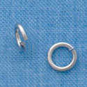 G1010 tlf - 6mm Jump Rings - 18 Gauge (1 mm) - Im. Rhodium Plated