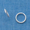 G1012 tlf - 6mm Jump Rings - 21 Gauge (.7mm) - Silver Plated