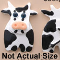 0661 tlf - Cow - Front Back Assorted - Resin Decoration