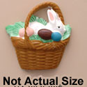 1142 tlf - Bunny In Brown Easter Basket - Resin Decoration