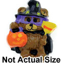 3572 ctlf - Witch Bear Mask Broom Hat Jack - Resin Decoration