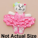 3867 ctlf - Ballet Cat Hot Pink Medium - Resin Decoration