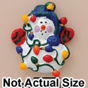 4229 ctlf - Snowman Lights - Resin Decoration