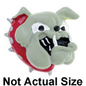 5556* - Large Bulldog with Red Collar - Resin Decoration